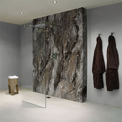 pewter marble effect wet wall panels  bathrooms