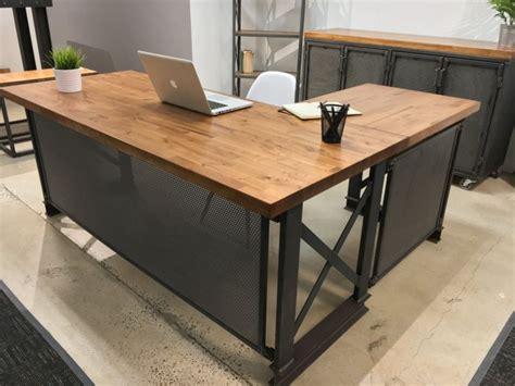 industrial l shaped desk stylish desks with industrial designs and elegant details
