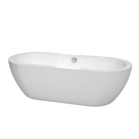 wyndham collection soho 6 ft center drain soaking tub in