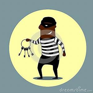 Burglar Carrying A Set Of Keys Stock Vector - Image: 58730476