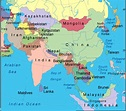 Asia Map Region Country   Map of World Region City