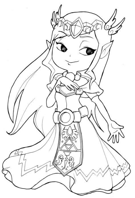 Toon Link Free Colouring Pages