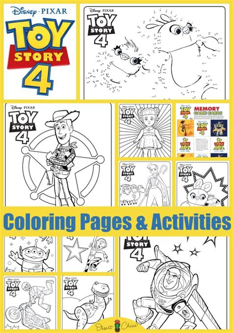 toy story  coloring pages  activities desert chica