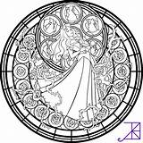 Coloring William Morris Stained Disney Popular sketch template
