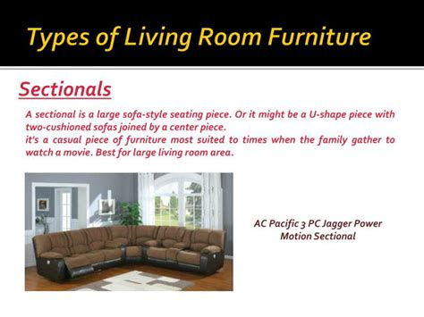 Types of Furniture for Your Living Room PowerPoint