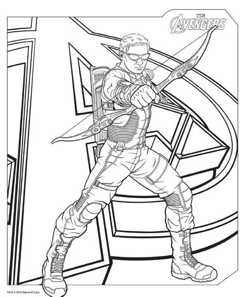 download avengers coloring pages here hawkeye