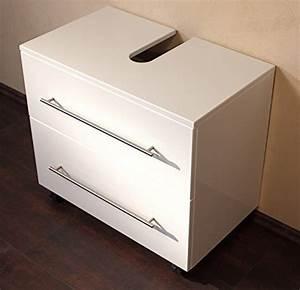 Meuble Sous Vasque 70 Cm : meuble sous vasque 70 cm avec roulette blanc laqu 123chantier ~ Teatrodelosmanantiales.com Idées de Décoration
