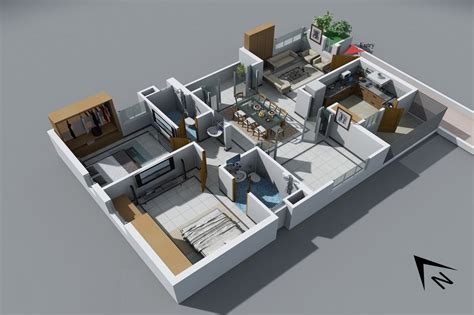 25 Two Bedroom Houseapartment Floor Plans by 25 Two Bedroom House Apartment Floor Plans Houses Two