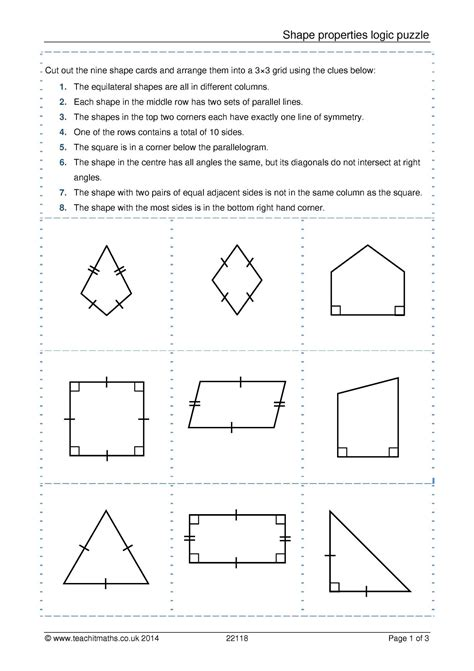 ks  shapes identifying triangles  special