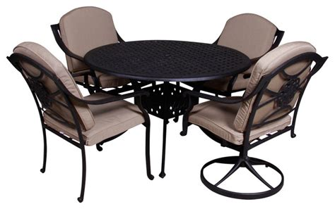 rockville 5 table dining set with sunbrella