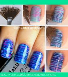 Fan brush nail art tutorial simplenailartdesigns s
