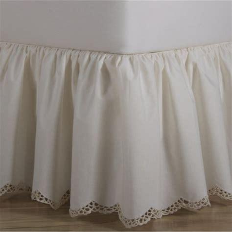 crochet edge scalloped cotton bed skirt shopbeddingcom