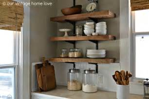 kitchen wall shelves ideas our vintage home reclaimed wood kitchen shelving reveal