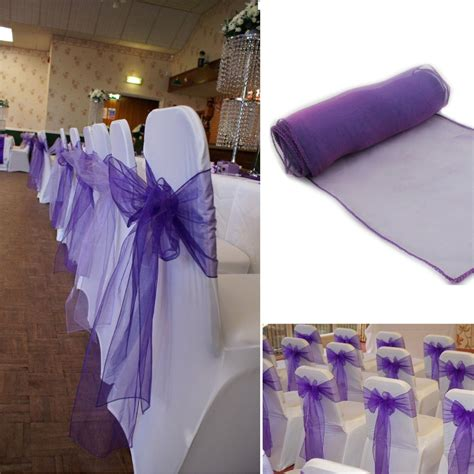 30pcs lot wedding organza 18 x 275cm organza chair cover