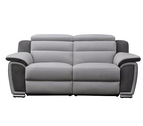 canap 233 3 places relax 233 lectrique wow cuir micro gris clair