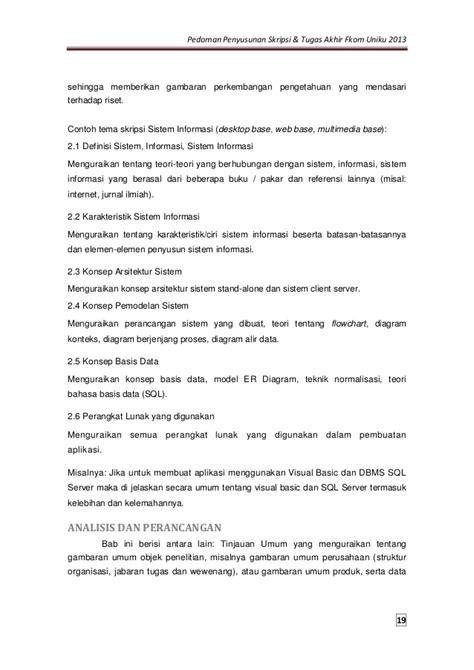 Contoh Jurnal Skripsi Sistem Informasi Nusa Mandiri