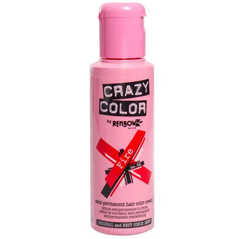 Crazy Color Semi Permanent Fire Red Hair Dye 100ml Hair