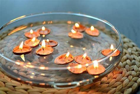 candele  acqua fai da te ecco  idee bellissime