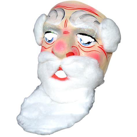 Papírová maska Mikuláše s vousy