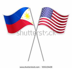 American Laotian Crossed Flags United States Stock Vector ...