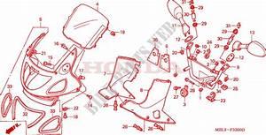 Upper Cowl For Honda Deauville 650 1998   Honda Motorcycles  U0026 Atvs Genuine Spare Parts Catalog
