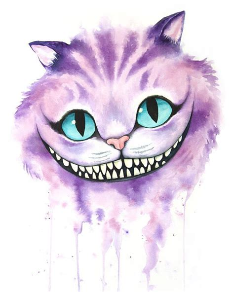 No Longer Available Cheshire Cat Watercolor By Denise