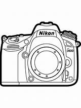 Coloring Camera Printable Device Action Cameras Lights sketch template
