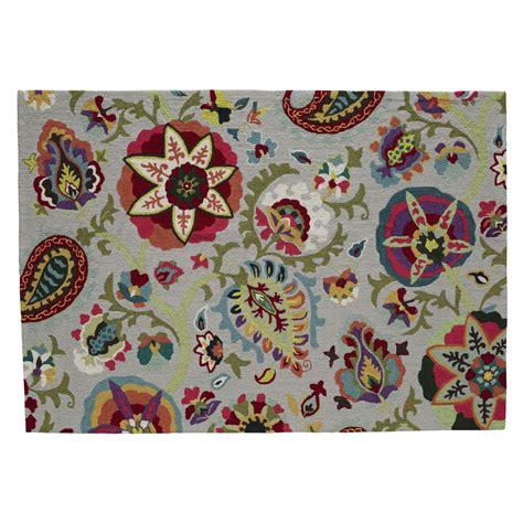 canapé rotin maison du monde tapis multicolore 160 x 230 cm salcea maisons du monde