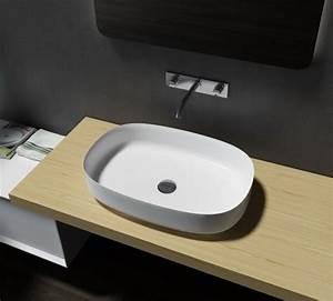 Mineralguss Waschbecken Reinigen : mineralguss aufsatzbecken waschbecken oval pb2123 ~ Lizthompson.info Haus und Dekorationen