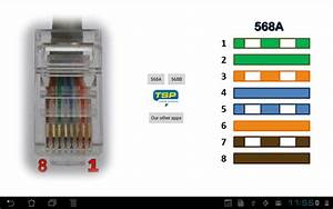 Ethernet Rj45 - Wiring Connector Pinout And Colors
