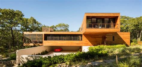 maison contemporaine construite enti 232 rement en bois