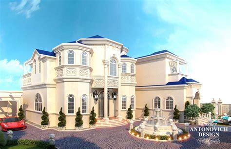 awesome villas exterior design  qatar antonovich design