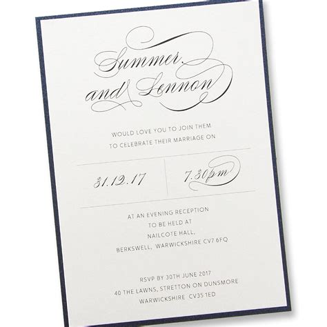 adriana evening invitation pure invitation wedding invites