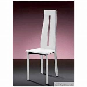 chaise cuir blanc salle a manger bricolage maison et With chaises en cuir pour salle a manger