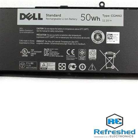 genuine dell inspiron  laptop battery  wh