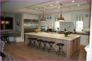 Large Kitchen Island Design Playful Large Kitchen Island With Bar Seating