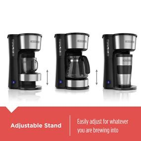 blackdecker     cup station coffeemaker cms