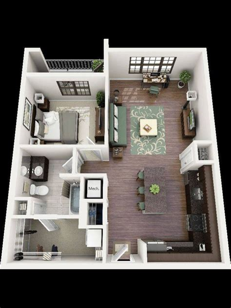 nice  comfortable planning   apartment small house blueprints house