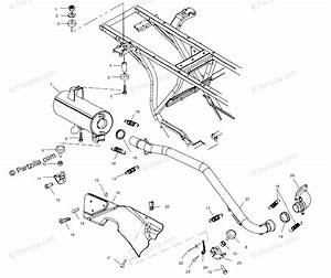 Polaris Atv 2001 Oem Parts Diagram For Exhaust System