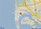 Map of Vagabond Inn San Diego Point Loma, San Diego