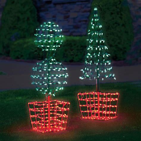 twinkling orb topiary hammacher schlemmer