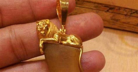 tiger nail pendants lion model sudhakar gold works