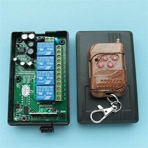 Ac 110v 220v 10a Relay 4ch Wireless Rf Remote Control