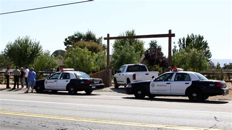 General Views Of Police Outside Of Debbie Rowe's House