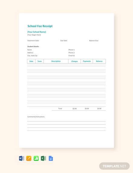 receipt templates  ready