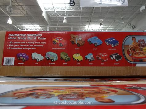 kidkraft disney cars train table set