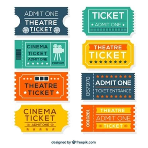 ticket stub template pink and blue ticket vectors photos and psd files free download
