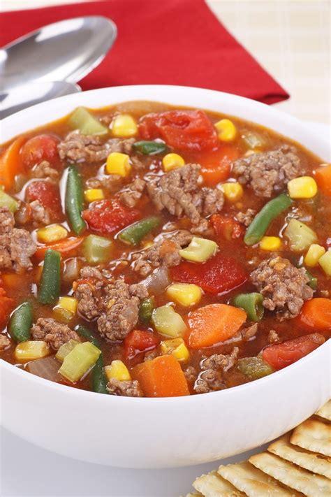 recipes with hamburger hamburger vegetable soup kitchme