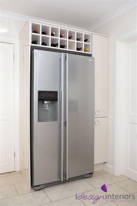 american style fridge freezer  surrounding gloss cream