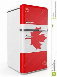 Roter Retro Kühlschrank : retro k hlschrank mit der kanada flagge auf der t r lizenzfreies stockbild bild 31668156 ~ Markanthonyermac.com Haus und Dekorationen